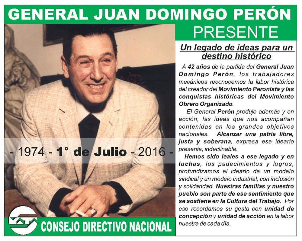 General Juan Domingo Perón - Presente