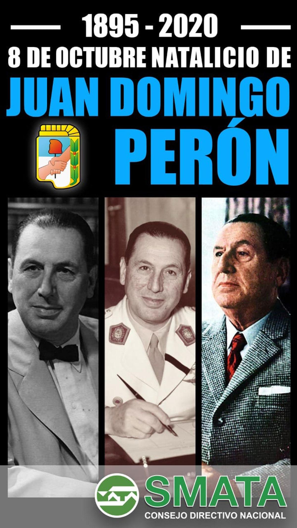 Natalicio de Juan Domingo Perón - SMATA